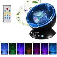 Remote Control Ocean Wave Tarry Sky Aurora Night Light Projector Mini Fairy Illusion Lamp Luminaria USB