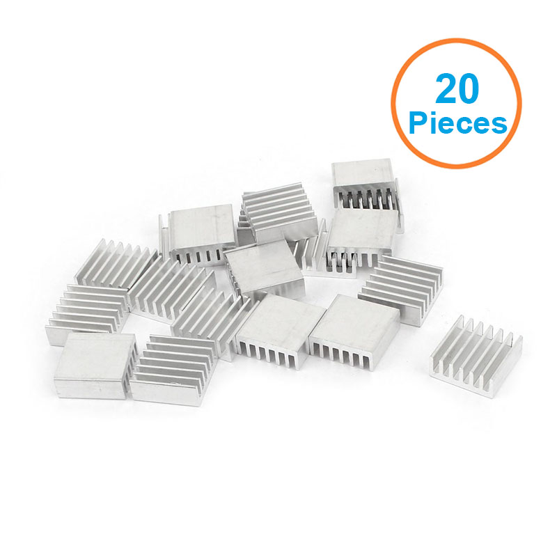 New 20pcs Silver 14x14x6mm Aluminum Heat Sink Radiator Heatsink for CPU,GPU, Electronic Chipset heat dissipation 200pcs lot 0 36kg heatsink 14 14 6 mm fin silver quality radiator