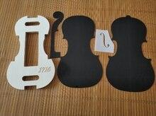 1 conjunto 4/4 violino pescoço/f buraco templet e molde/molde templet violino fazendo ferramentas
