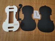 1 set 4/4 violin neck / F hole templet and Mold/Mold templet violin making tools