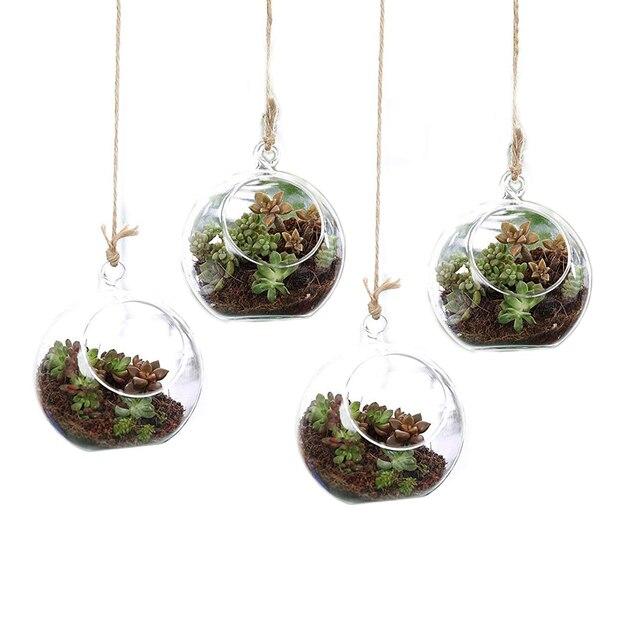 T4u 4 75 Glass Hanging Plant Terrariums Tealight Holder Globe Air