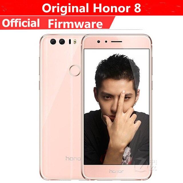 """Быстрая доставка DHL HuaWei Honor 8 4G LTE сотовый телефон Android 6,0 5,2 """"FHD 1920X1080 4G B Оперативная память 6 4G B Встроенная память сканер отпечатков пальцев NFC"""