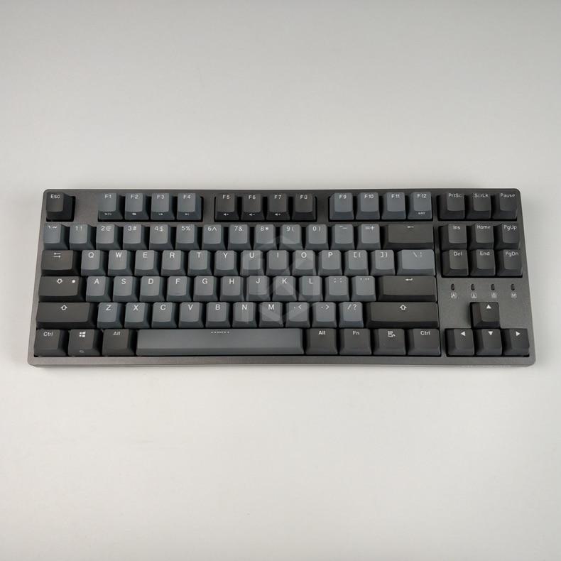 Durgod 87 taurus k320 clavier mécanique utilisant des commutateurs cherry mx pbt doubleshot keycaps marron bleu noir rouge argent commutateur - 3