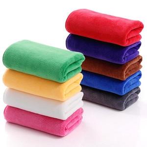 Image 1 - 5/10 pçs 30*70cm microfibra toalha de lavagem de carro absorvente toalhetes multi função toalha de cabelo seco espessamento mais limpeza doméstica atacado