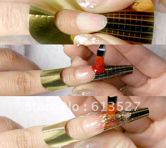 Free Shipping Green Manicure Tool Nail Art Form Guide Extension ...