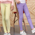 Girls Fashion Leisure leggings Girls candy colored pencil pants Girls Skinny Children Pants Kids Large size Trousers