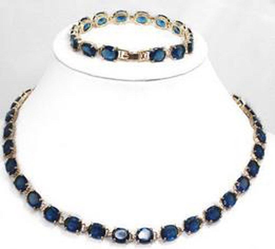 New Women's Design Blue Bracelet & Necklace Jewelry Set 2 36G good quality seagatest336607lw 36g ulra320