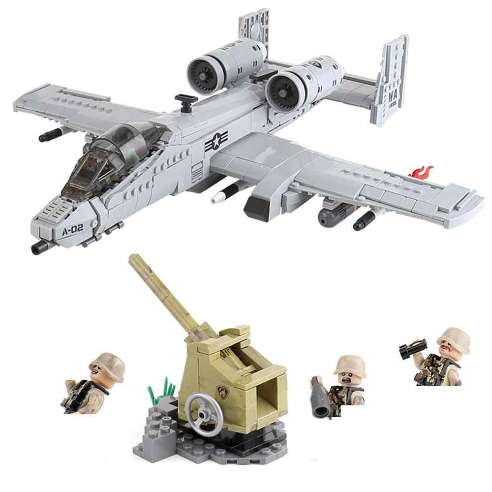 hot legoeinglys military WW2 A10 bombers fighter war army Anti-aircraft guns mini weapons figures Building Block brick toys gift