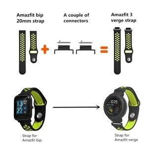 Image 2 - 2 пары, адаптер для браслета, коннектор для браслета Huami Amazfit Verge, умный ремешок адаптер для наручных часов, аксессуары для соединения