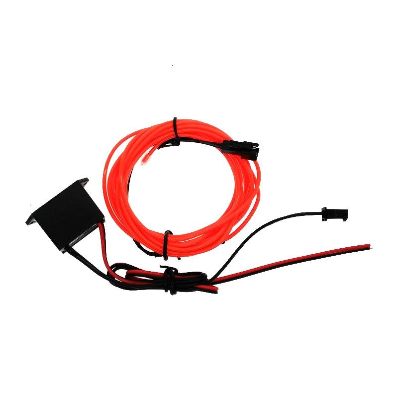 Luces de televisión de neón Fiesta de baile Decoración para automóvil Iluminación EL Cable Tubo de cuerda flexible Impermeable Tira de LED con controlador DC12V