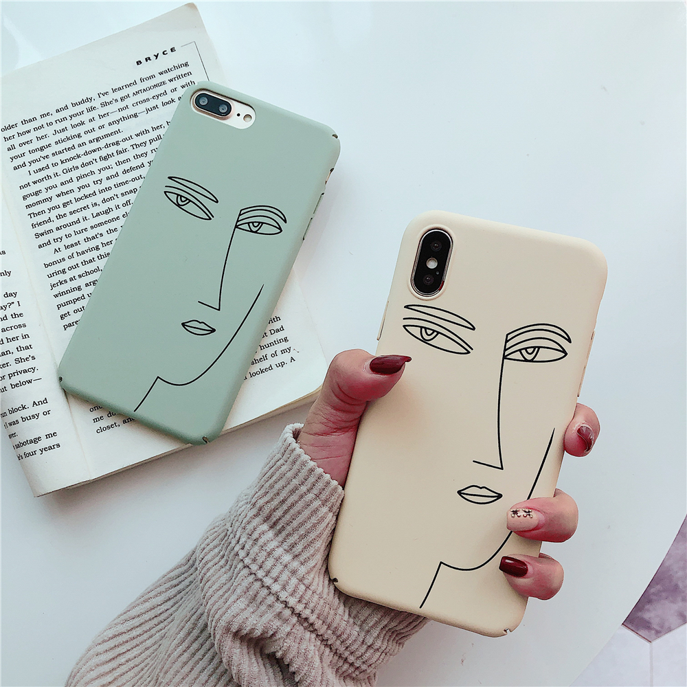US $1 99 |Chinese art Buddha face case for iphone X XS MAX XR Simple line  drawing case for iphone 6 6s 8 7 plus hard pc cover coque funda-in Fitted