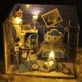 Ручной работы Кукольный Дом Мебель Миниатюрный Кукольный Домик Миниатюре Diy Кукольные Домики Деревянные Игрушки Для Детей Подарок На День Рождения Ремесло TW1
