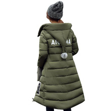 2016 New Plus Size Winter Wadded Jacket Women Thick Warm Hooded Long Down Cotton-padded Jacket Parka Slim Winter Coat CE0410