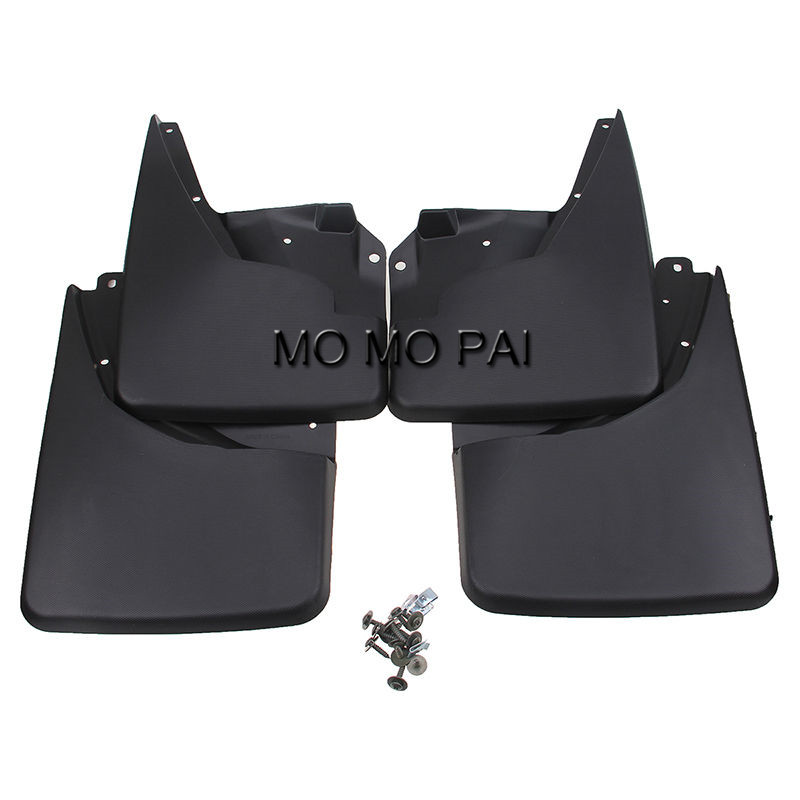 car-styling 4pc Mud Flaps Splash Guards Front Rear Mudguards Fit for 06-15 Hummer H3 SUV Offroad paralama MO MO PAI 1 35 assembly model e 100 frederick scher type containing metal gun turret