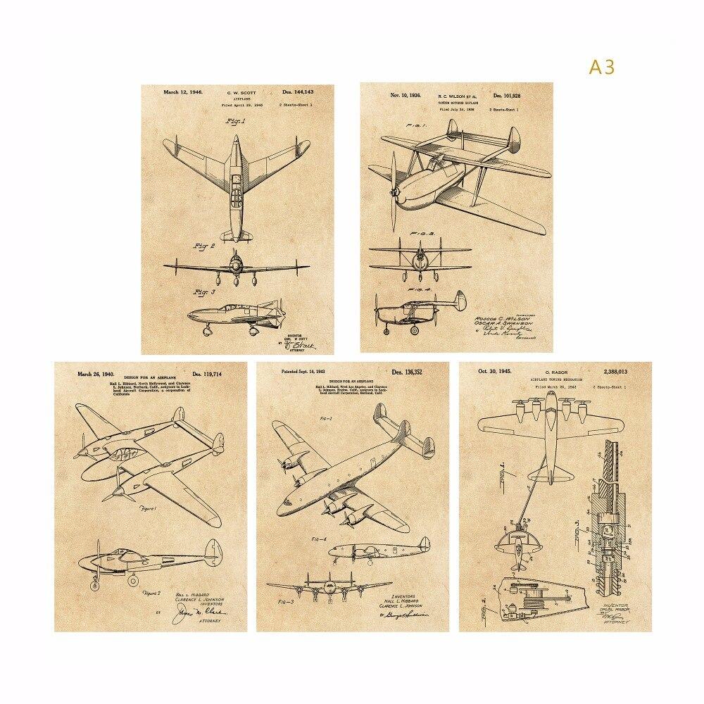 Aliexpress.com : Buy Vintage patent art world war II Airplane poster ...