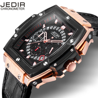 JEDIR Men Watches Fashion New Luxury Brand Pirate Hollow Leather Clock Male Casual Sport Watch Men
