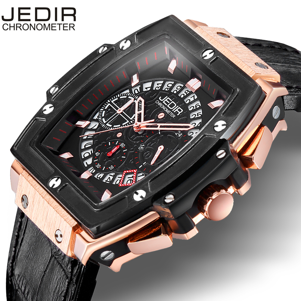 JEDIR Men Watches fashion New Luxury Brand Pirate Hollow Leather Clock Male Casual Sport Watch Men Luminous Wrist Quartz Watch jedir reloj hombre army quartz watch men brand luxury black leather mens watches fashion casual sport male clock men wristwatch