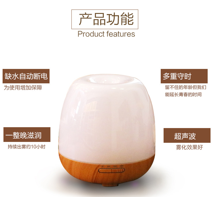 Air Humidifier Essential Oil Diffuser Aroma Lamp Aromatherapy Electric Aroma Diffuser Mist Maker for Home-Wood SPA household woodgrain humidifier essential oil diffuser aroma lamp aromatherapy electric aroma diffuser mist maker for home wood