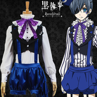 Anime Kuroshitsuji Black Butler Book of Circus Cosplay Ciel Phantomhive Cosplay Costume Full Set