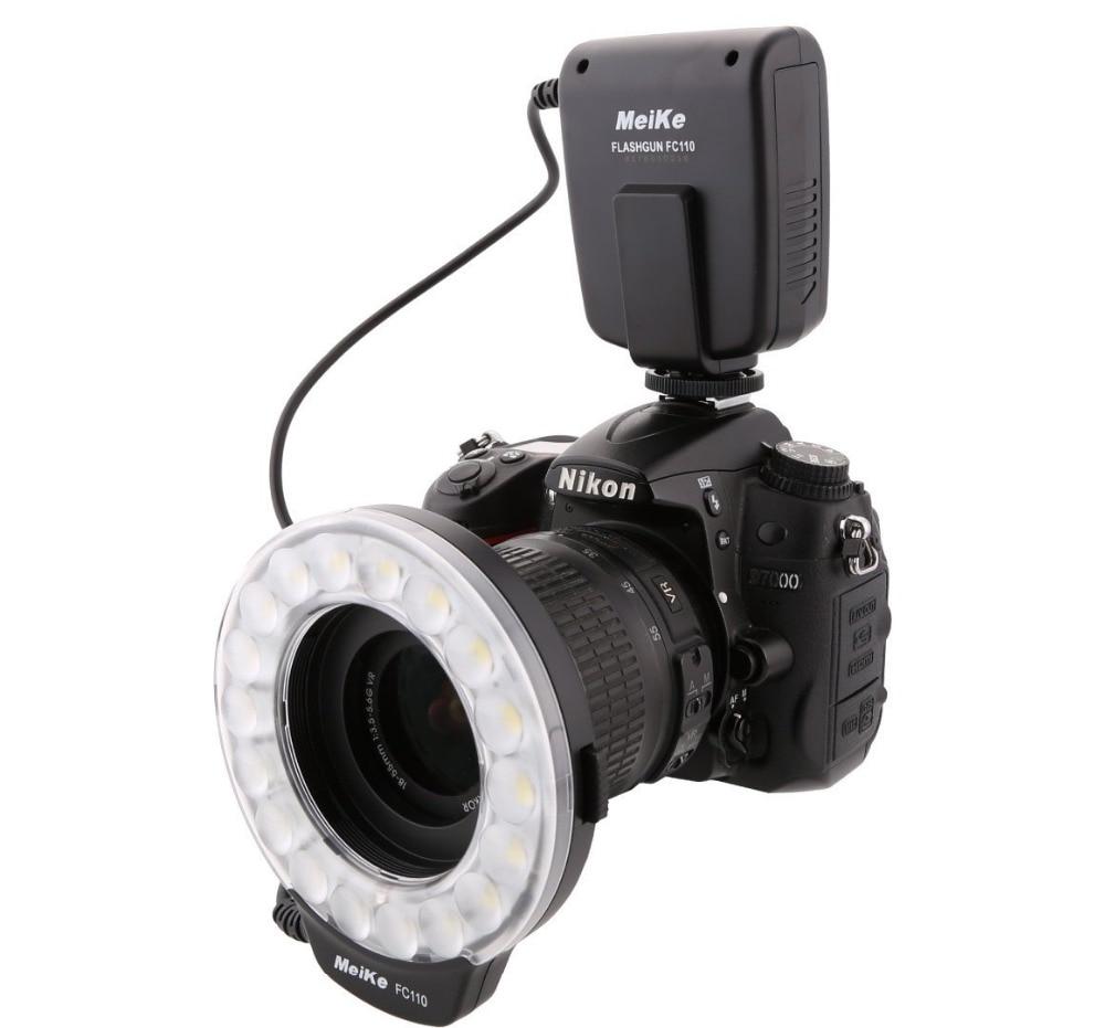 Meike FC-110 LED Macro Ring Flash Light for Canon Nikon Pentax Olympus Panasonic Camera цены