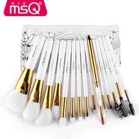 MSQ Professional Makeup Brushes Set High Quality 15 Pcs Makeup Tools Kit Premium Full Function Blending