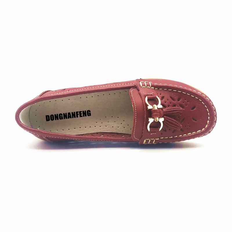 4dd55128154 DONGNANFENG Women Casual Mother Ladies Female Flats Shoes Hollow ...