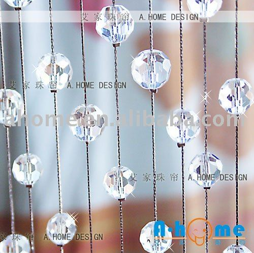 CG015 Handmade Crystal Glass Round Facet Beaded Curtain Room