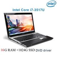 "dvd נהג ושפת 16G RAM 1024G SSD השחור P8-23 i7 3517u 15.6"" מחשב נייד משחקי מקלדת DVD נהג ושפת OS זמינה עבור לבחור (1)"
