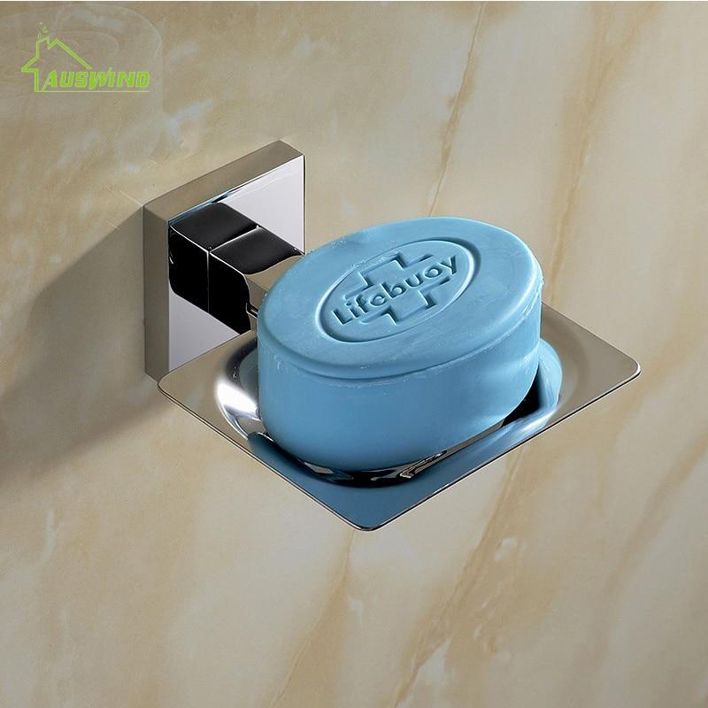 Moderne SUS 304 acier inoxydable salle de bain titulaire moderne lisse miroir salle de bains accessoires matériel Set porte-savon