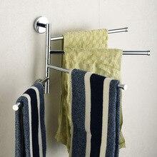 Br Chrome Polished Four Bars Swivel Holders Bathroom Towel Bar Rail Rack Accessaires 3e031501