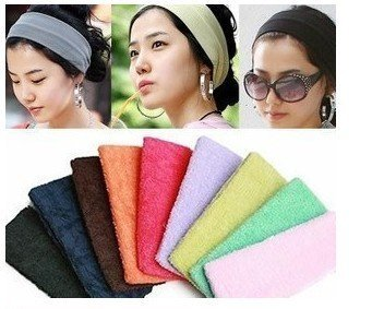 Korean pop candy color wide HAIR BAND / hair / fine cashmere wide band