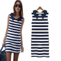 [MASCUBE]Korean Fashion Original Novelty Summer Clothing Dresses  stripe Slim Casual Stripe Sleeveless Women Dress Striped Dress