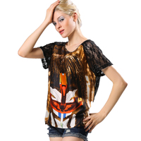 Sexy Casual Summer Hipster Graphic Women T-shirt Lady T shirt Tunic Female Sheer Mesh Top Cool Emoji Tee Clothing Brand 2016