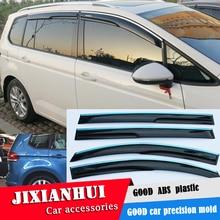 Для touran Пластиковый оконный козырек для touran- WXK вентиляционные шторы Защита от солнца и дождя 4 шт./компл. стайлинга автомобилей