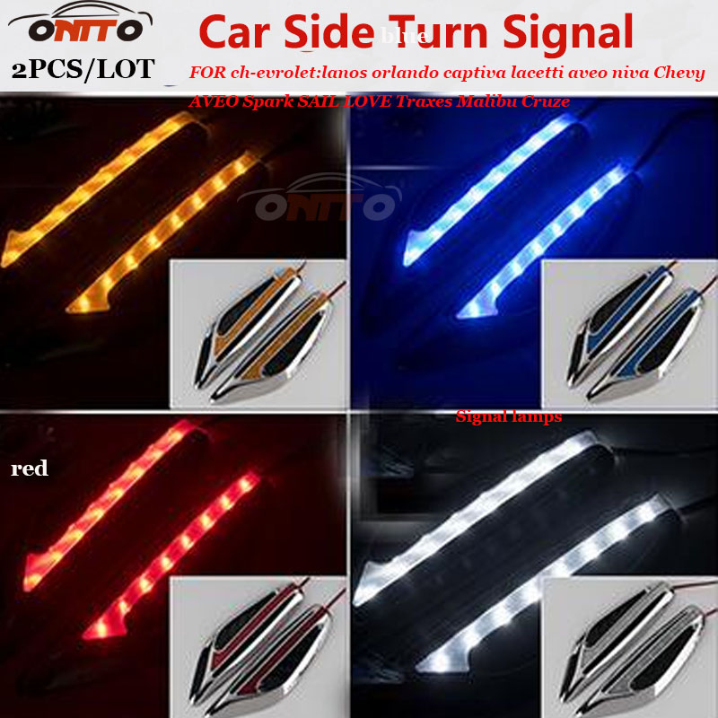 Top LED car side turn signal light 2pcs indicator Blade Shape Fender Lamps for cadillac ATS BLS CTS Escalade EXT STS SLS SLR SRX kalaisike custom car floor mats for cadillac all models ats ct6 sls xt5 srx cts escalade ct6 atsl xts car accessories styling