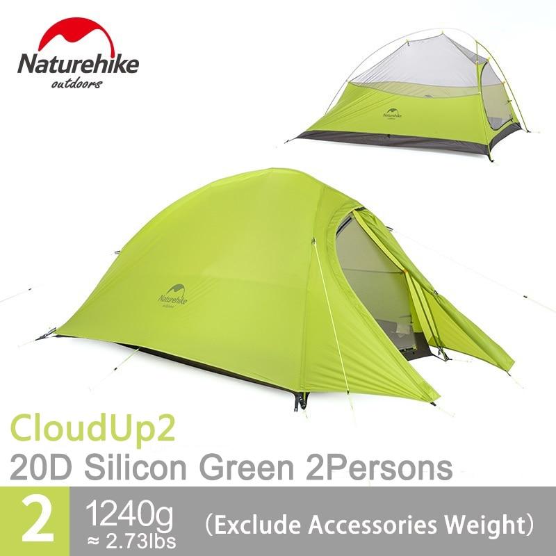 Naturehike 2 Человек Палатка Водонепроницаемый Сверхлегкий Палатки легкий двойной Слои 2 Человек Палатка Бесплатная след nh15t002-t20d