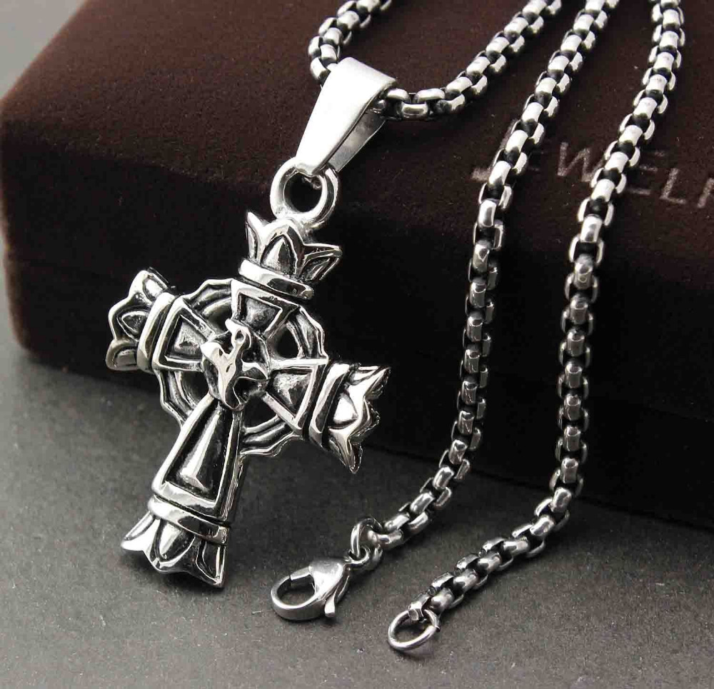 316l stainless steel vintage celtic cross pendant necklace chain 316l stainless steel vintage celtic cross pendant necklace chain mens jewelry in pendants from jewelry accessories on aliexpress alibaba group aloadofball Gallery