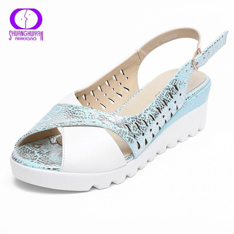 aimeigao wedges platform high heels sandals fashion
