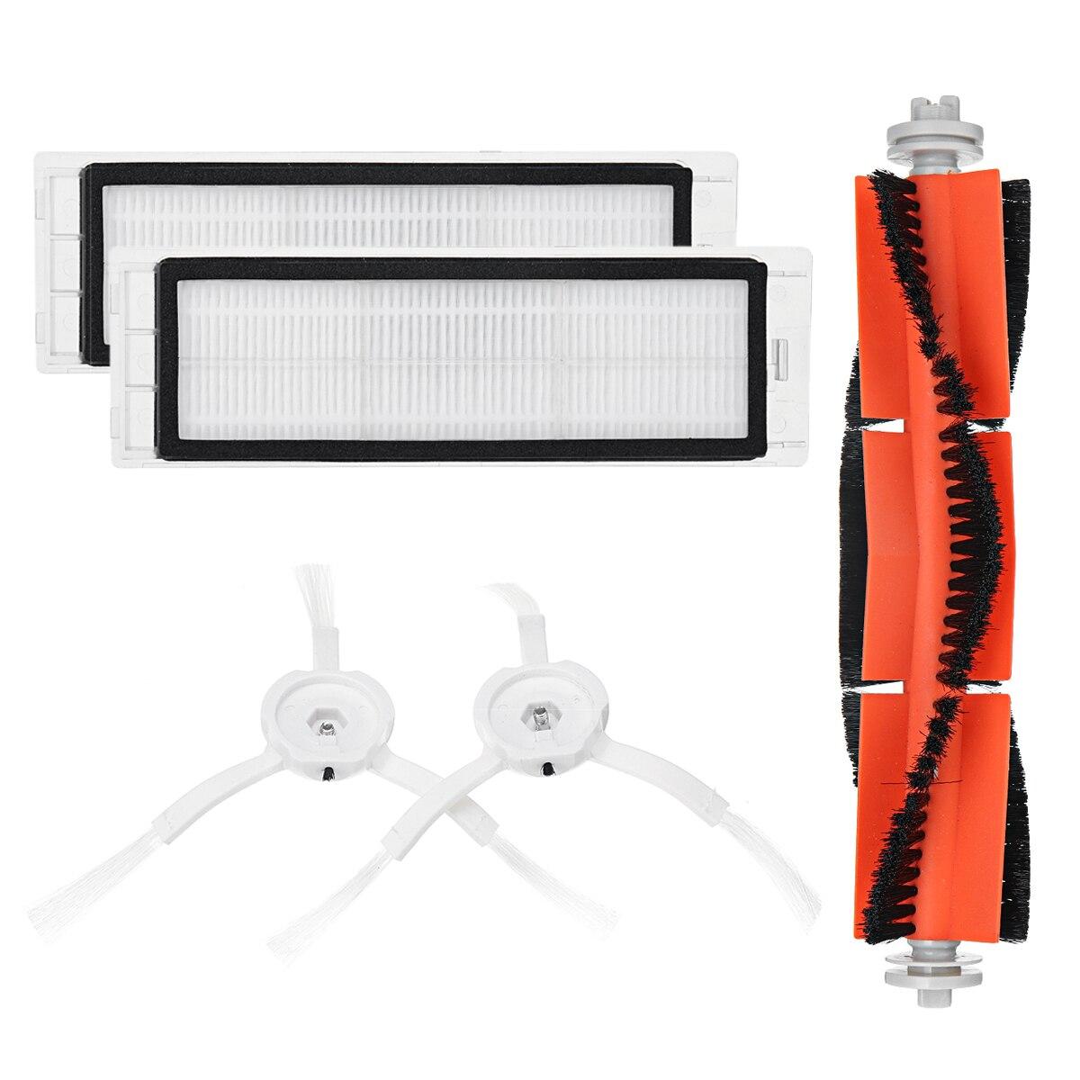 Econo mi c 5 piezas de Xiaomi mi aspiradora Robot inteligente limpiador accesorios pared Invisible cepillos laterales de Rolling bush