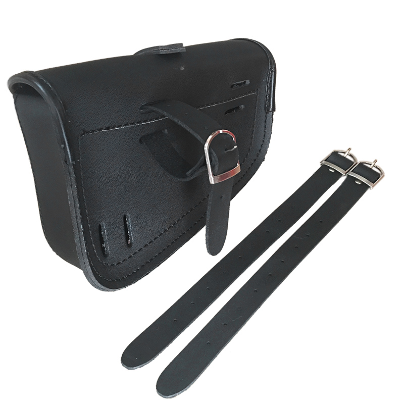 Black Synthetic PU Leather Left Right Side Motorcycle Saddle Bags For Harley Sportster Motor Saddlebag To Store Tool