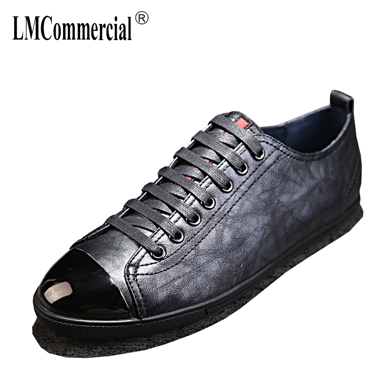 Genuine Leather men's casual shoes. All-match cowhide breathable sneaker fashion boots men casual shoes spring autumn summer kelme 2016 new children sport running shoes football boots synthetic leather broken nail kids skid wearable shoes breathable 49