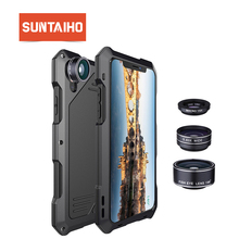 Suntaiho for iPhone X Case Cover Fisheye Camera Lens for iPhone 7 case for iPhone 8  PLUS 6 6s Shockproof Dirtproof 3 in 1 Lens