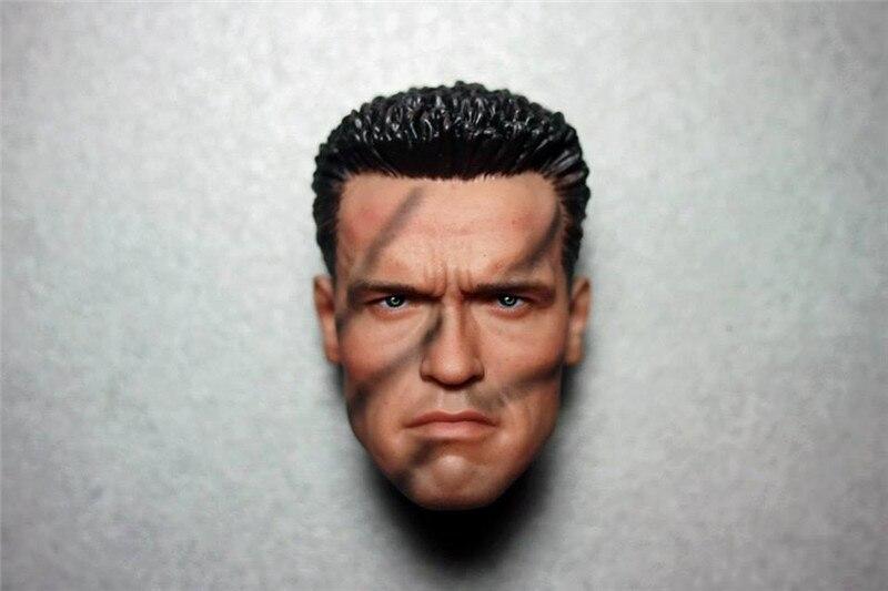 1/6 Arno Arnold Schwarzenegger Head Terminator 2 T800 Head Commando Tactical Version for Hot Toys Figure Body.