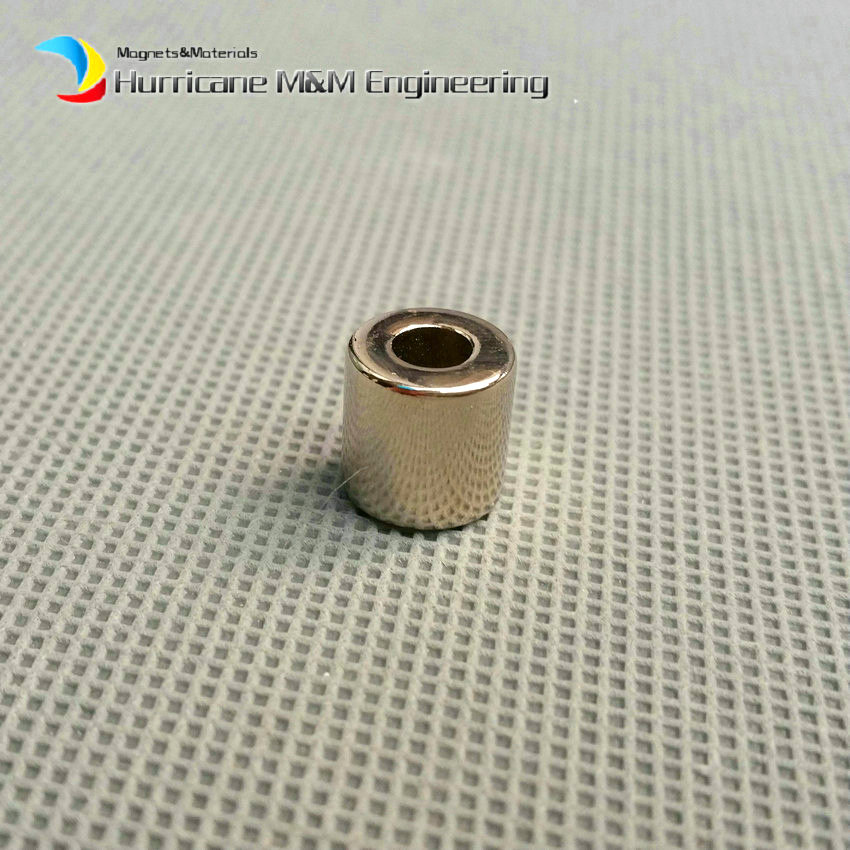 1 Pack NdFeB Magnet Ring OD 10x4x10 mm Diameter 0.39'' Round Strong Magnets Axially Magnetized NiCuNi Coated Rare Earth Magnet николай леонов таежная полиция