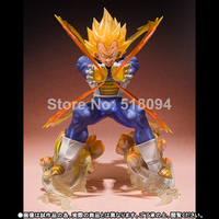 Anime Dragon Ball Z Super Saiyan Vegeta Battle State Final Flash PVC Action Figure Collectible Model