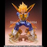 Anime Dragon Ball Z Super Saiyan Vegeta Battle State Final Flash PVC Action Figure Collectible Model