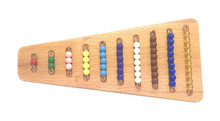New Wooden Baby Toy Montessori Colorful bead step plate color Beaded Education Toys