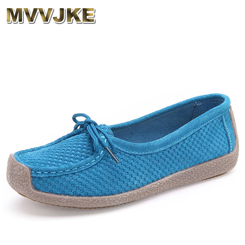 MVVJKE 2018 Ballet Summer Women round toe Genuine Leather lace up Shoes Flats Flexible Casual Fashion Pregnant Woman Loafers fashion pointed toe women shoes solid patent pu brand shoes women flats summer style ballet princess shoes for casual crystal