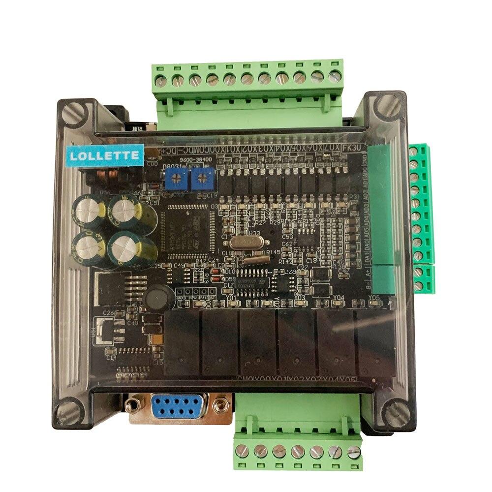 High speed FX3U-14MR 10MR FX1N FX2N industrial control board PLC with 485 communication protocol No data line