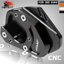 Motorcycle Accessories Side Stand Enlarge Kickstand Extension Plate Pad CNC For KTM DUKE 300 duke300 2013 2014 2015-2018 2017 цена
